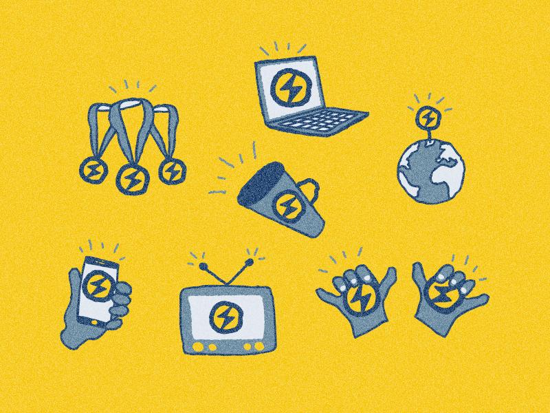 Recap Icons icons illustration