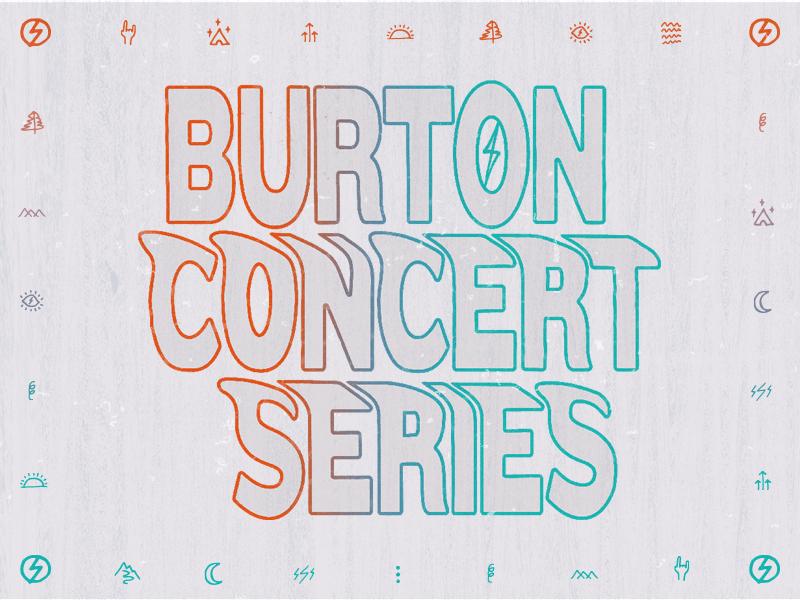 Burton Concert Series illustration typography music festival music