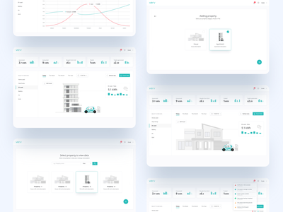 Verv custom client dashboard appdesign illustrations interaction design onboarding material design ux user experience prototyping app designer ui energy