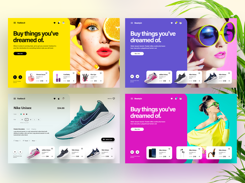 Fashion.it - A Fashion Style e-commerce project branding design appdesign illustrations ux prototyping app designer user experience interaction design ui