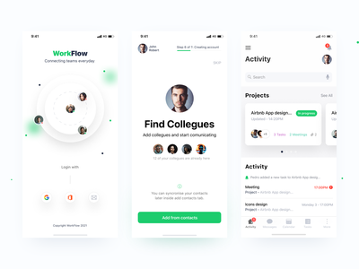 Workflow - Connecting teams everyday task manager task remotework remote green ecology uiconcept workflow teamwork flow work teams app ux app designer prototyping user experience interaction design ui