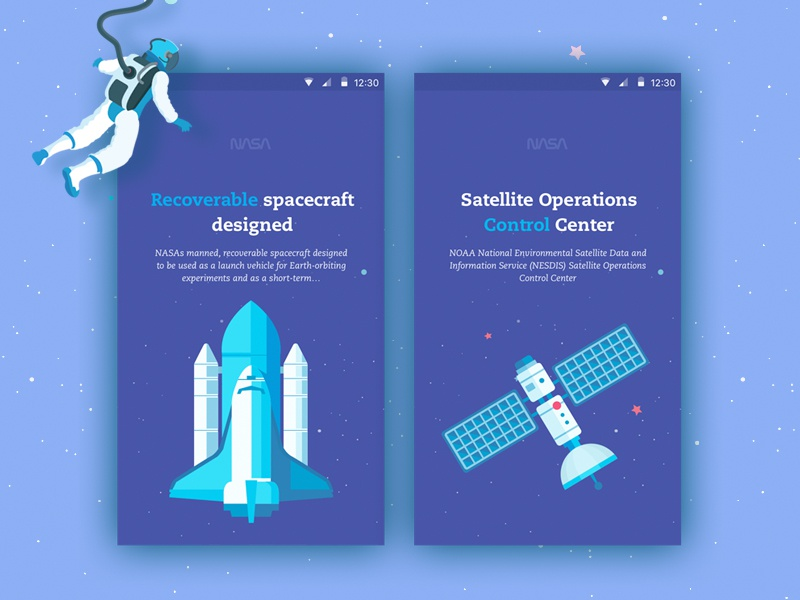 Space user experience interaction design icon illustrations icons material design android animated prototyping ui ux app designer