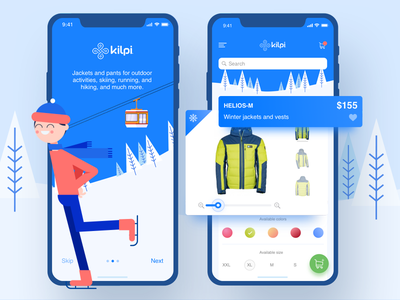 Kilpi Product Detail user experience interaction design icon illustrations icons material design android animated prototyping ui ux app designer