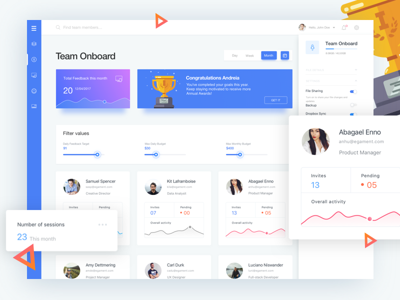 Team Onboard Dashboard user experience interaction design icon illustrations icons material design android animated prototyping ui ux app designer