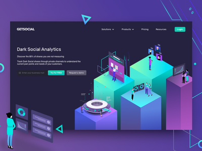 Dark Social Analytics Onboarding user experience interaction design icon illustrations icons material design android animated prototyping ui ux app designer