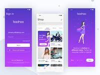 Boohoo Shop ios app Concept