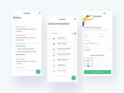 Teamx Mobile Dashboard app concept app ios design icons onboarding uidesign appdesign prototype icon illustrations ux user experience prototyping interaction design app designer ui