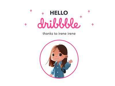 Hello Dribbble hello dribbble logo flat branding design illustration