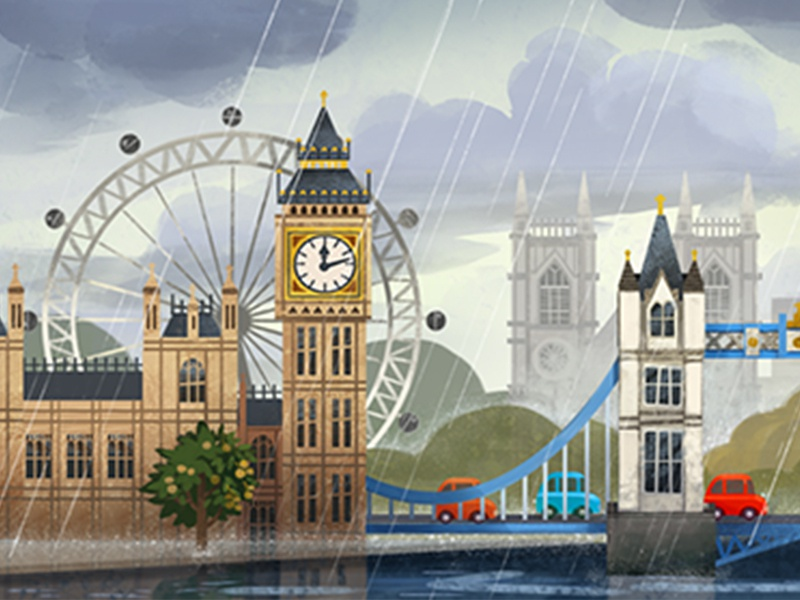 Juice Jam background maps london bridge big ben london eye london design art concept art character 2d art illustration