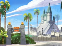 Juice Jam background - Universal Studio