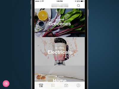 Offers Section (+Invite) food electrical invite home giveaway ios iphone design interface app ux ui