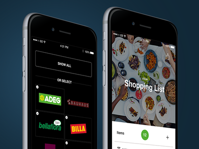 Discover home food items brands list shopping ios iphone design app ux ui