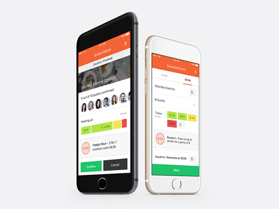Poll Votes offers time meeting event schedule ios iphone design interface app ux ui