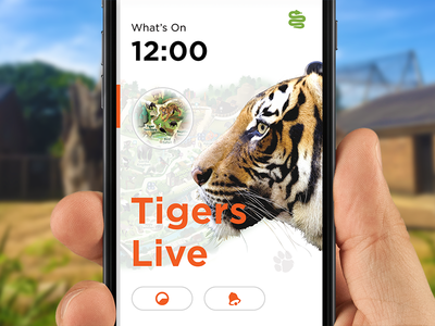 London Zoo reminder stats map time animal ios iphone interface design app ux ui