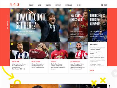4-4-2 web sport social poster magazine logo instagram identity football design branding