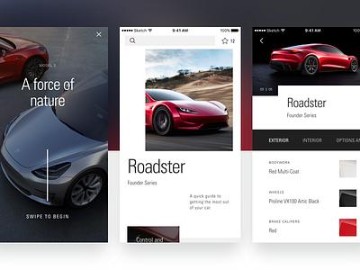 Customer App giveaway invite ios ux ui design grid layout car app