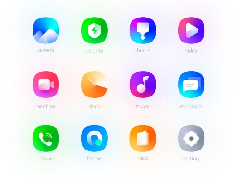 Huawei theme icon design design ui
