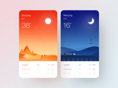 A group of weather illustrations 02