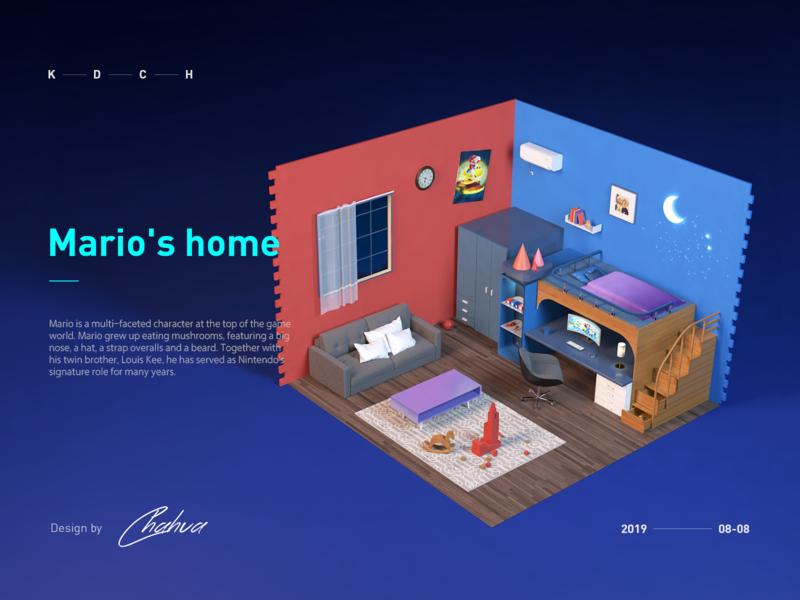 Mario's Room-C4d Design c4d illustration 插图 设计