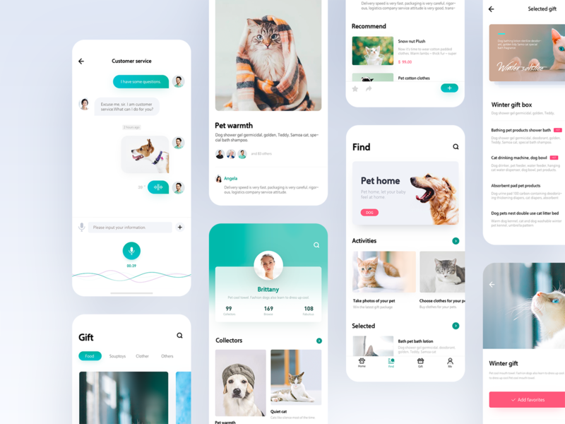 Application Design of Pet Home 04 ux app hiwow 设计 design uidesign ui