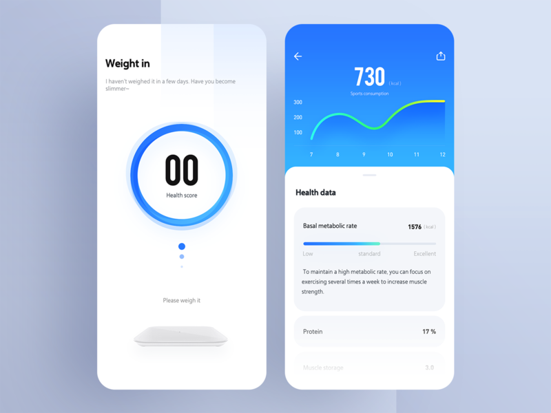 An app for weight measurement radesign illustration uidesign ui