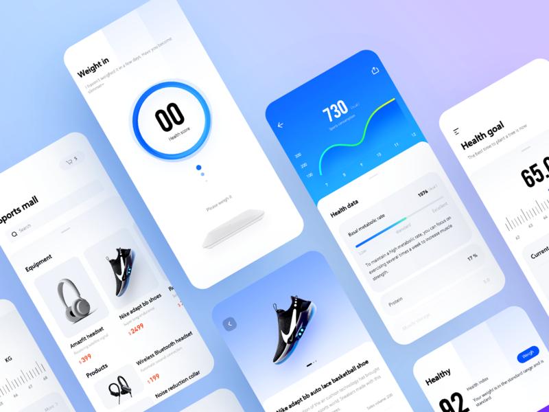 Sports health management app collection radesign 设计 uidesign design ui