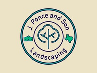 J. Ponce And Son Landscaping Alternative Logo