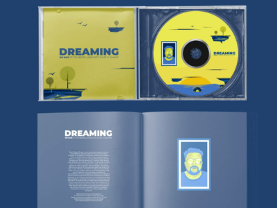 Dreaming cover design and mini book illustration cover design cd