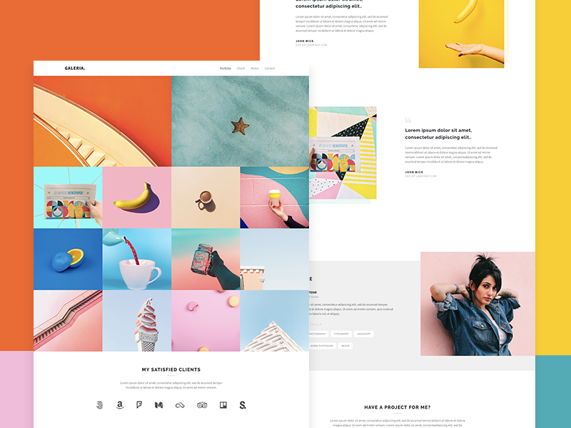 Gallery Landing Page Template