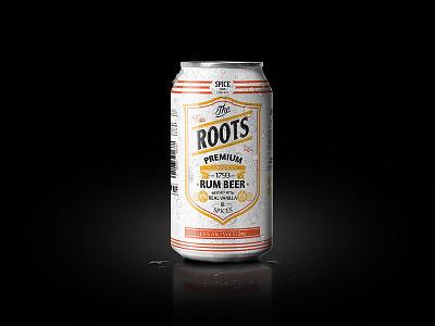 Rootsrumbeer Dribbble rum beer spirits typography branding packaging