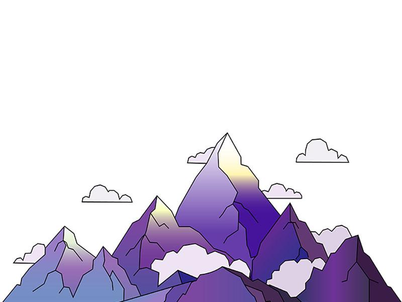 Mountains illustration mountains