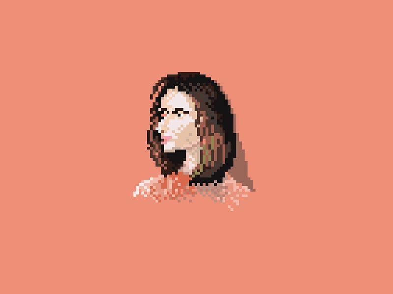 Girl pixelart hair design adobeillustrator illustrator graphicdesign graphic adobe 8bit 8bit-graphic girl illustration