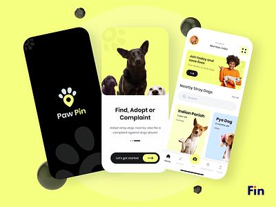 Paw Pin logodesign app design app dog graphic  design illustration uiux ui-designer design