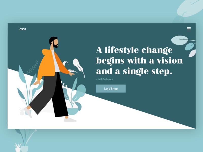 Lifestyle is not any amount, it's a practice graphic  design ui-designer ux-design uiux typography lifestyle illustrator website webui ui webdesign design illustration
