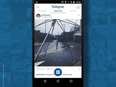 Instagram App Navigation UI Re-design (Android) sketch ux app  interface mobile design modern product product design user interface redesign ui instagram android