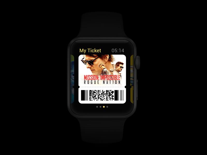 My Ticket ui concept watch applewatch