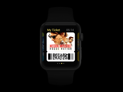 My Ticket ui concept watch applewatch