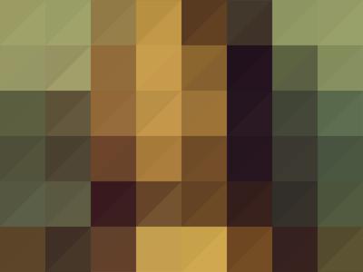 MONA LISA color illust pixel poster