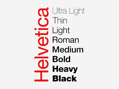 Helvetica Family typography font type poster helvetica