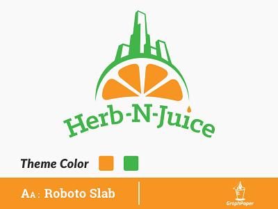 Herb-N-Juice  Logo Design illustration mocktail shop logo juice logo logo inspiration bar logo restaurant logo cafe logo branding quick logo app logo symbol icon design logo art minimal logo design business logo