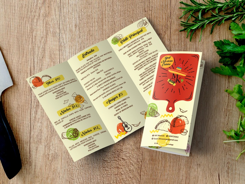 Food Menu cafe menu cafe branding branding menu design restaraunt food and drink brochure trifold design vector typography illustration ui print minimal clean