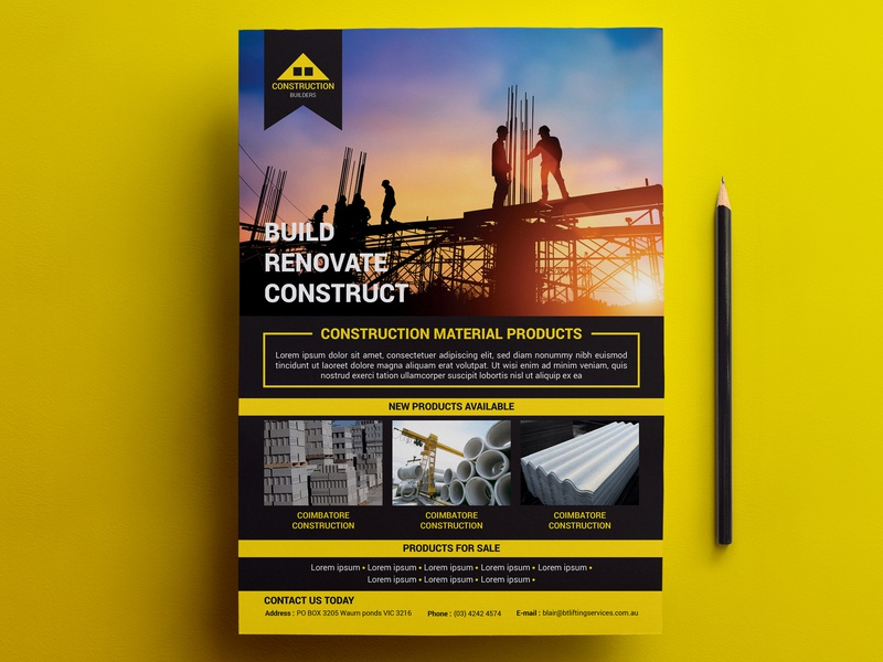 construction flyer by smileless on dribbble