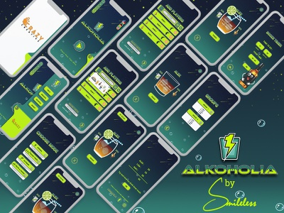 Alkoholia-Game Ui Design & Sketch vector beer ios design app ux ui sketch motion animation illustration icon graphics gambling truth  dare drinkers