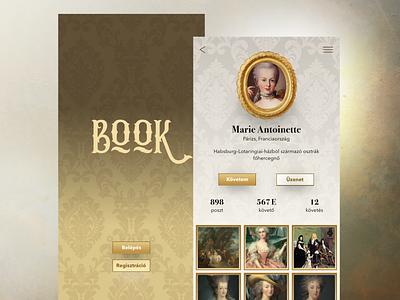 Baroque UI concept webdesign design adobe xd app design profile uidesign ui baroque