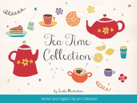 Tea Time Hand Drawing Collection