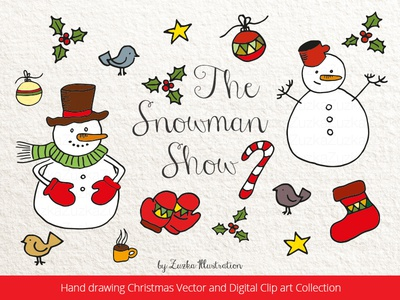 The Snowman Show - Christmas Hand Drawing Collection