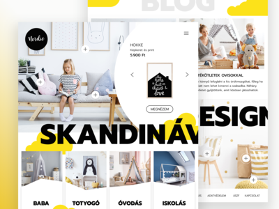 Nordic - ecommerce desktop layout