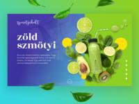 """""""zöld smötyi"""" - Smoothie single page"""