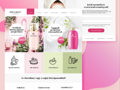 Pure & Beauty Ecommerce site