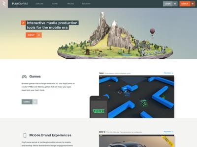 Playcanvas Landing Page